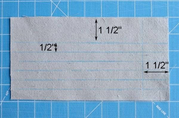 Notebook Paper Zipper Pencil Pouch Tutorial