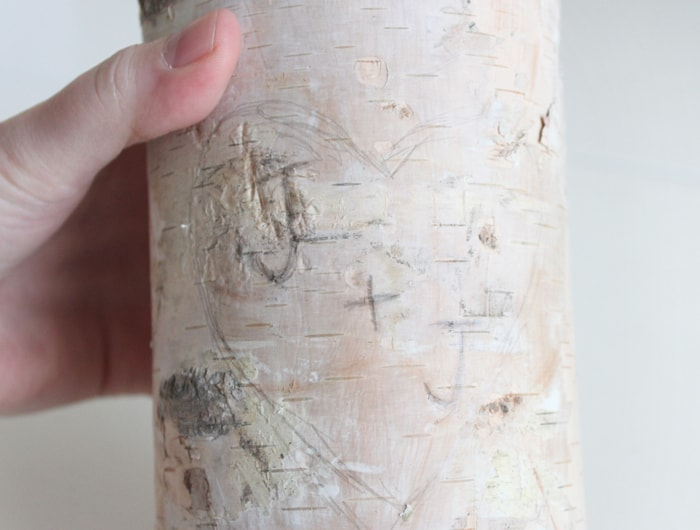 Birch Pillar Candle Holder - Pretty for a wedding decoration or anniversary gift!