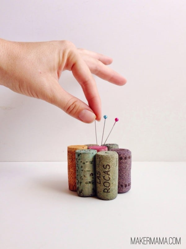 Learn how to make a pin cushion from wine corks
