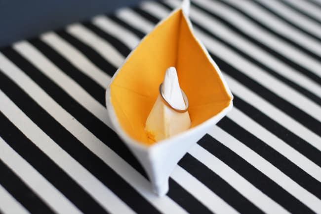 finished origami ring holder 1