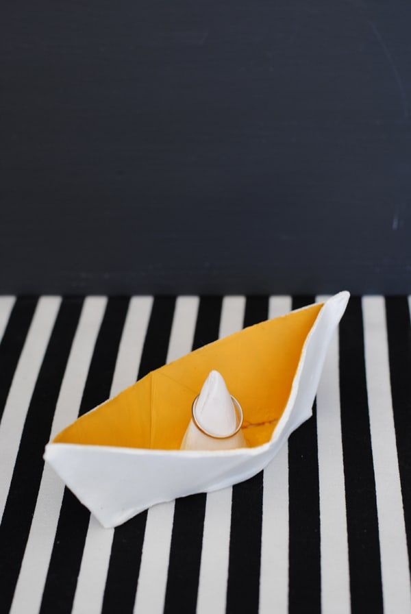 finished origami ring holder 2