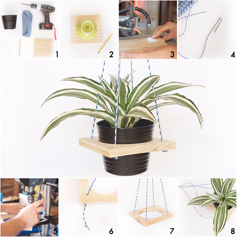 Make a beautiful DIY plant hanger from wood - so easy!