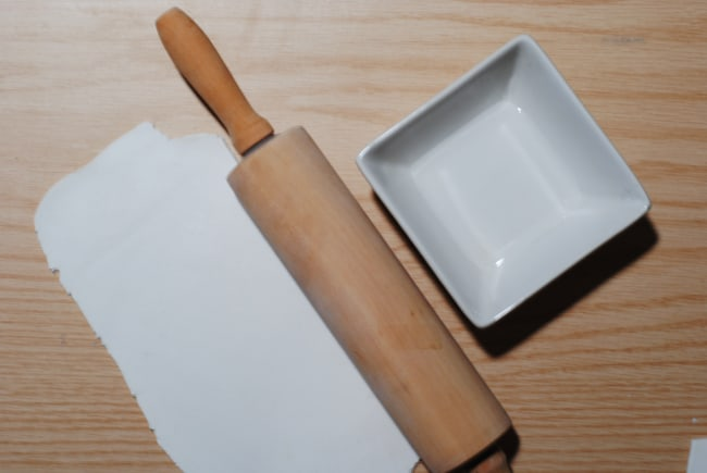 rolling out air dry clay