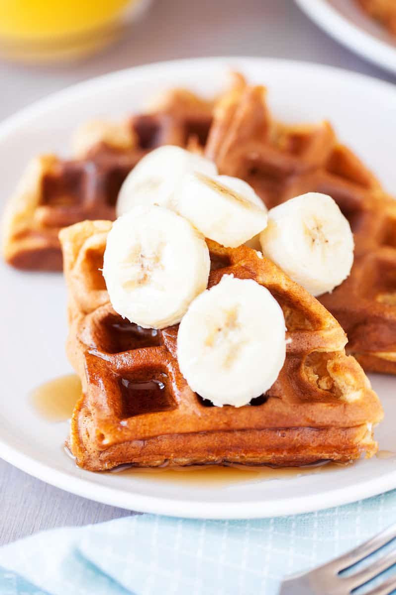 These whole wheat waffles are more healthy than the standard - this yummy recipe includes sweet potatoes, carrots and honey.