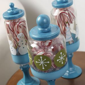 recycled apothecary candy jars