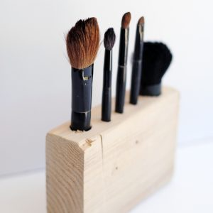 Wooden DIY Makeup Brush Holder
