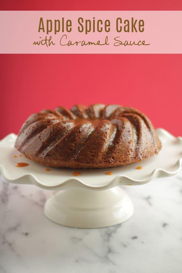 Apple Spice Cake Recipe with Caramel Sauce