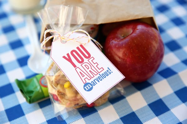 Lunch box tags for kids