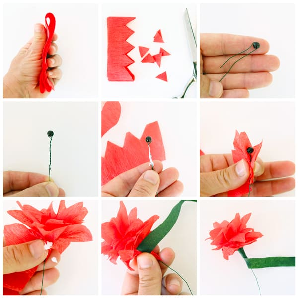 5 minute crepe paper flowers diy candy learn how to make paper flowers from crepe aka streamers mightylinksfo