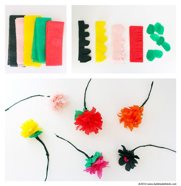 easy crepe streamer flowers