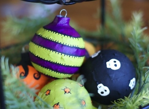 Mod Podge Halloween ornaments