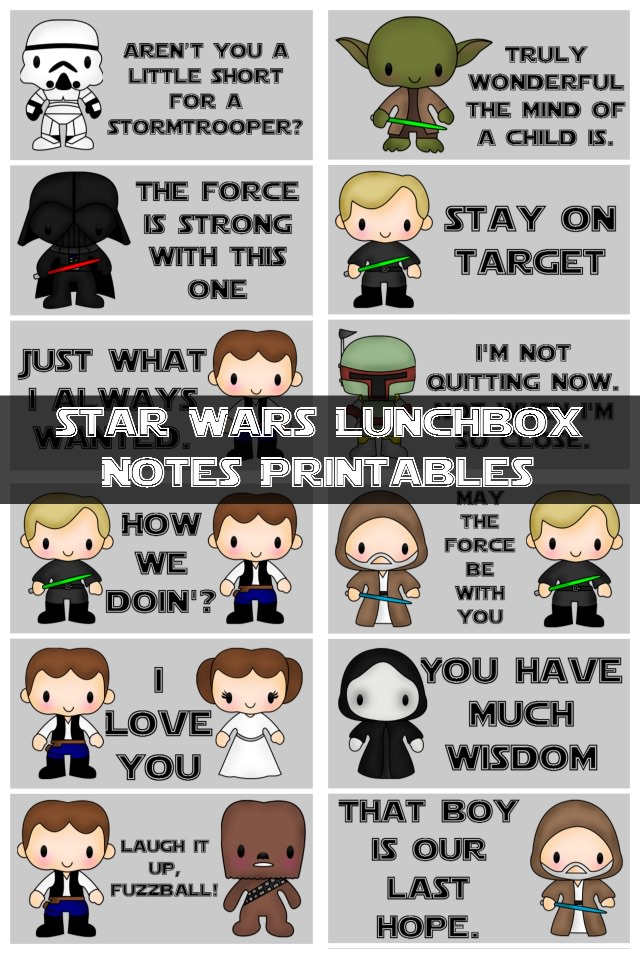 Star Wars Lunch Box Notes
