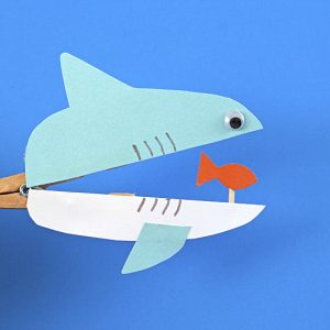 Celebrate Shark Week with your kids by doing one of these shark crafts - they'll provide hours of fun and play!