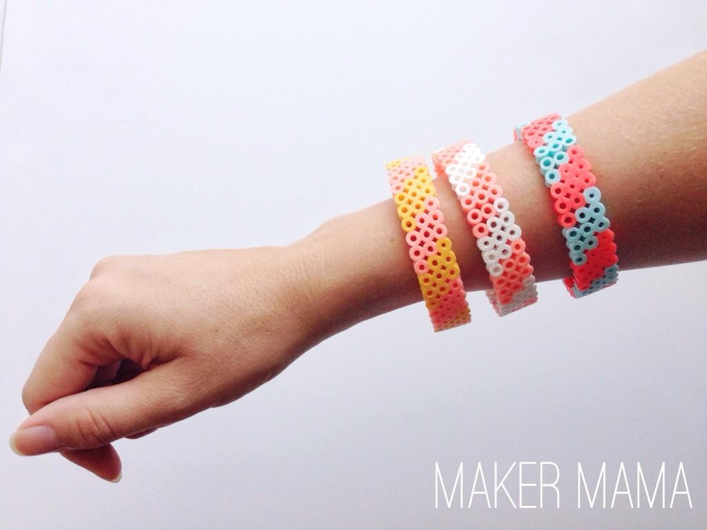 Hama Bead Bracelet DIY diycandy com
