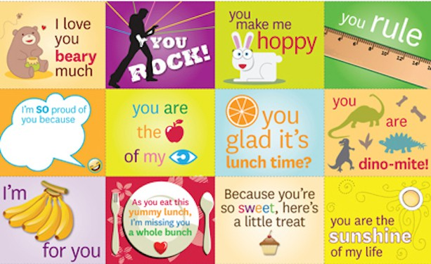 Rebus lunchbox notes for kids