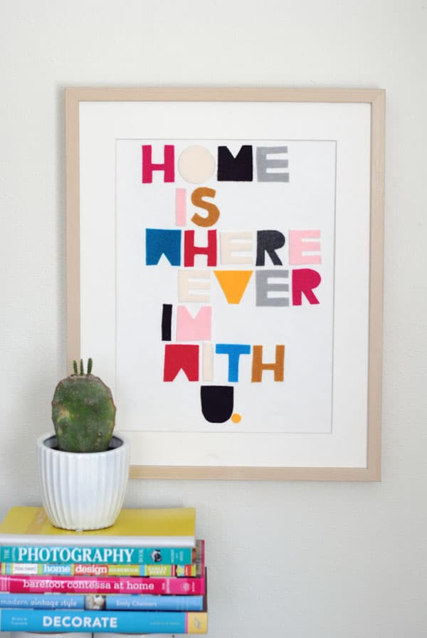 Easy Felt Craft: Song Lyric Word Art