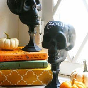 Dollar Store Craft: DIY Upcycled Skulls
