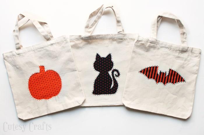 Reverse Applique Diy Trick Or Treat Bags Diycandy Com