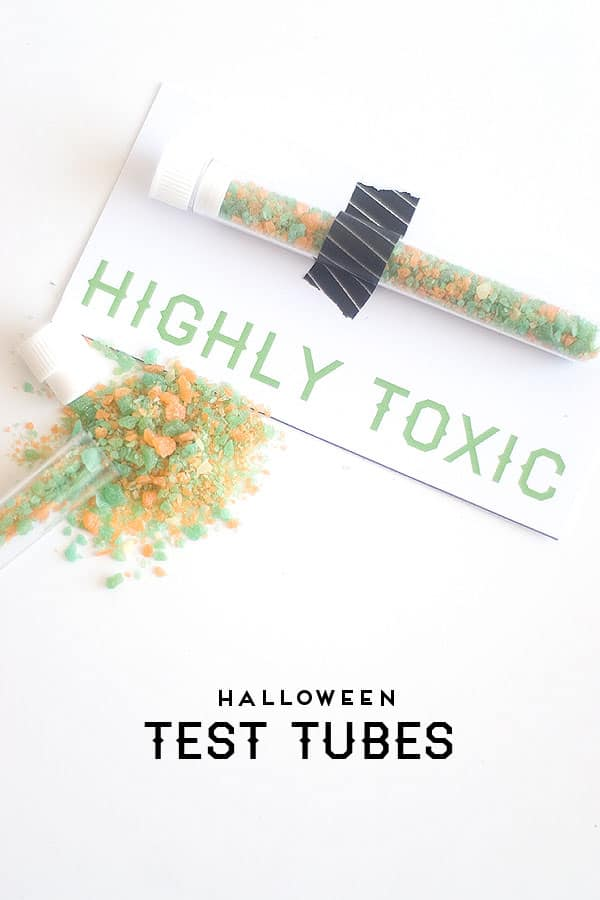 Spooky Test Tube Halloween Party Favors