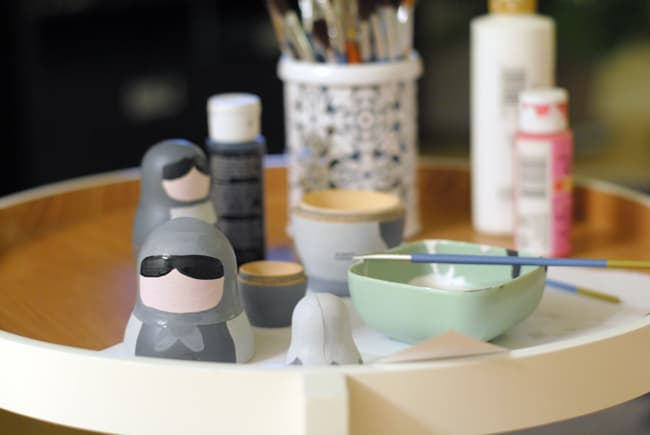 8 - painting nesting dolls with acyrlic paint
