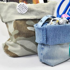 DIY denim bins - no sewing skills required!