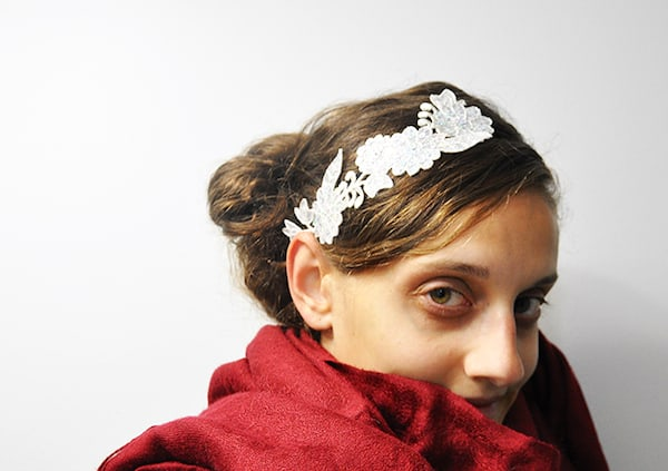 DIY Headband Made from a Lace Applique