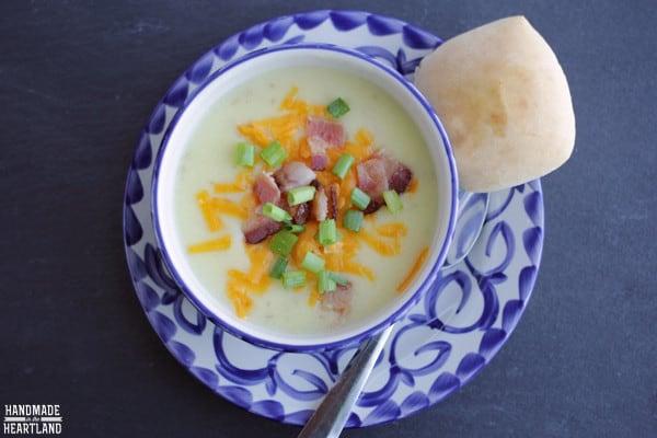 How to make loaded potato soup