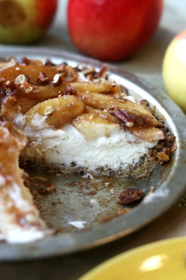 If you want a delicious and easy apple pie recipe, try it inside out! You'll love the addition of ice cream to the baked apples.
