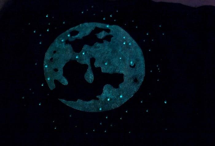 Easy Moon Glow in the Dark T-Shirt