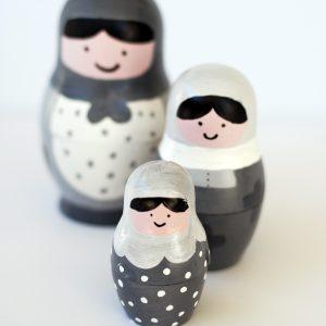 DIY Modern Nesting Dolls