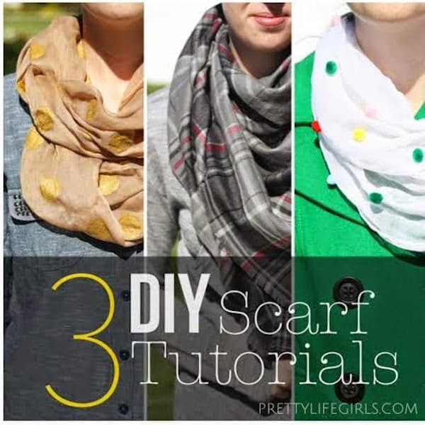 DIY Scarf : Three Scarves and Ways to Make Them Fabulous
