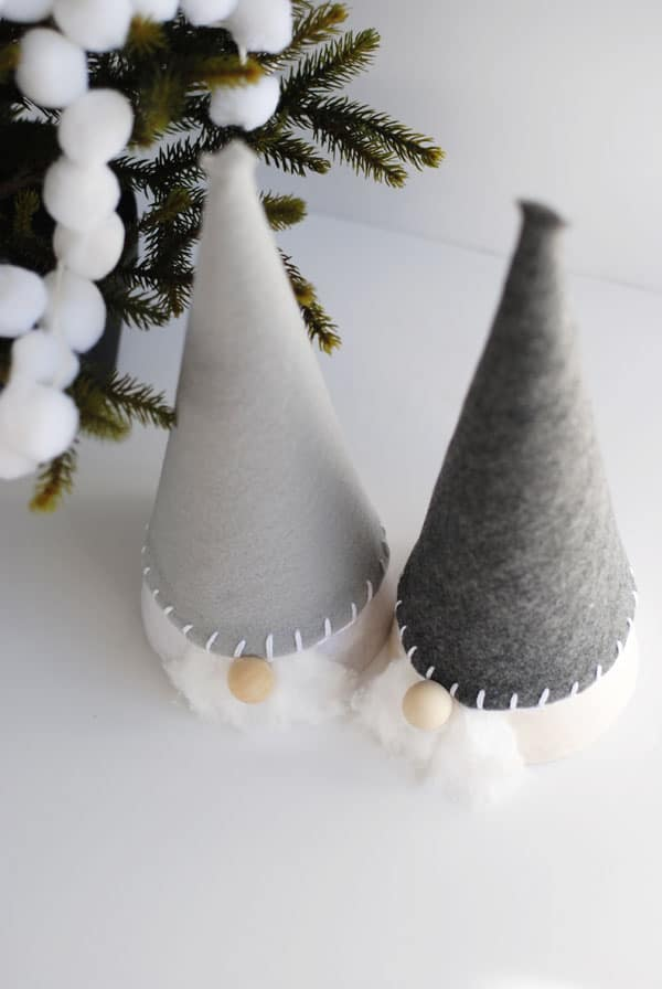 I love Nordic inspired crafts - including these delightful Christmas gnomes! They are very easy to make with paper cones and felt.