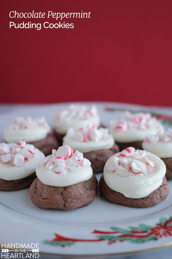 Christmas Pudding Cookies with Peppermint