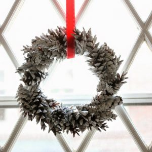 Make a Mini Pine Cone Wreath for Pennies