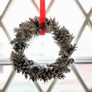 Make a Mini Pine Cone Wreath for Pennies