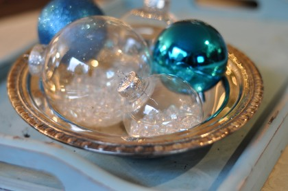 Make easy Christmas ornaments using plastic bulbs and some simple supplies from the craft store - you'll make several in minutes!