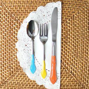 Colorblock Silverware for Your Next Celebrati...
