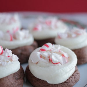 These delicious peppermint pudding cookies are loaded with yummy chocolate and would be perfect for a cookie exchange or bake sale!