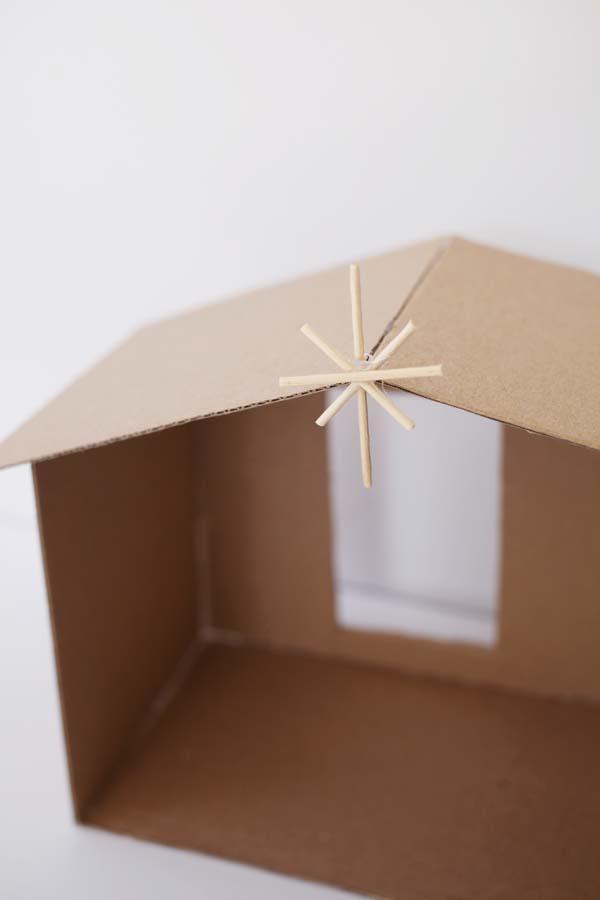 toothpick star for manger