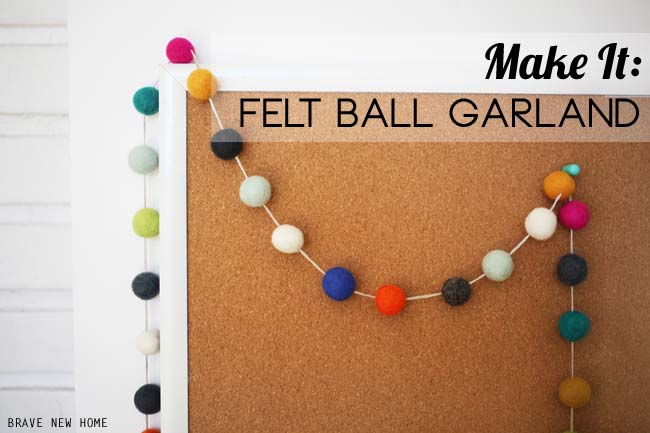 How to make a felt ball garland the easy way