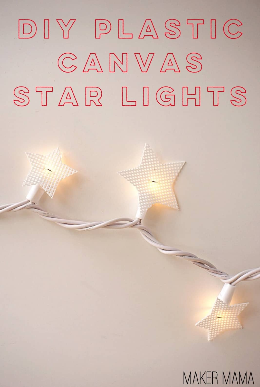 this holiday craft is a twist on standard lights add plastic canvas star diy christmas