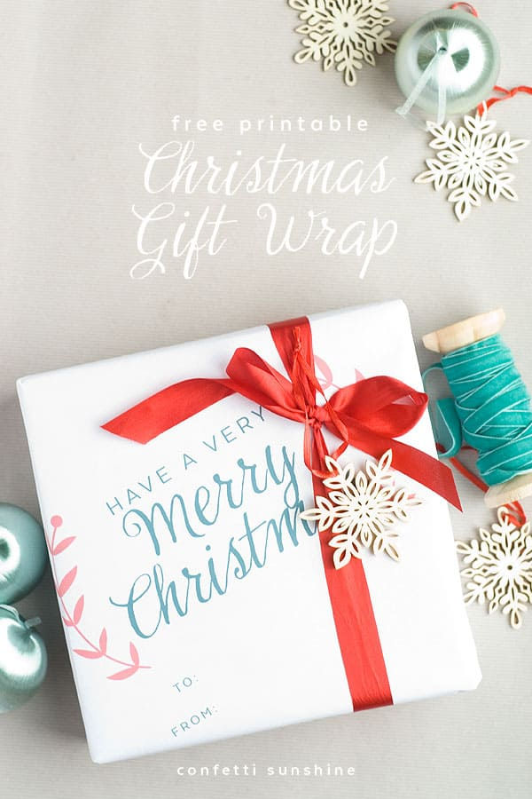 Selective image with printable gift wrap
