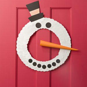 Cool Snowman Craft for Kids: Paper Door Wreat...