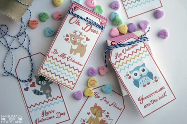 Here are some free cute little woodland animal valentine tags for you to print out and share with those you love in your life!