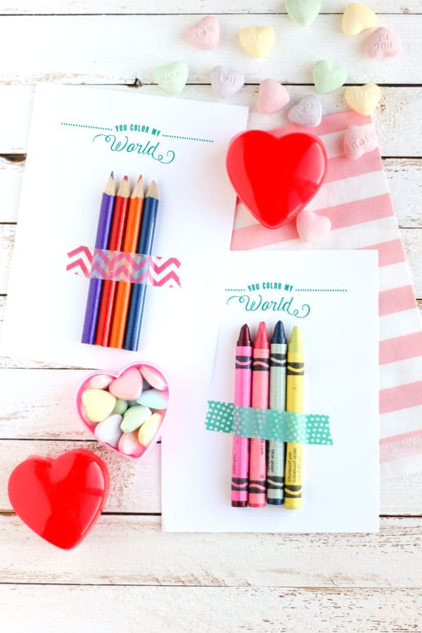Use This Cute Free Printable Valentines Card To Give Out In The Classroom  With A Few ...