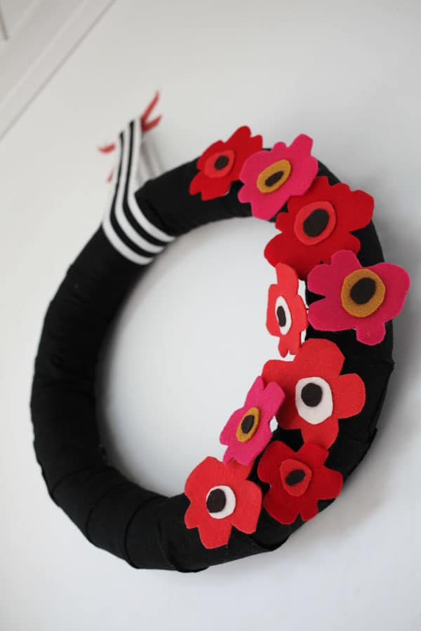 You'll never believe that this DIY wreath is a pool noodle underneath! If you love Marimekko, this craft is for you.