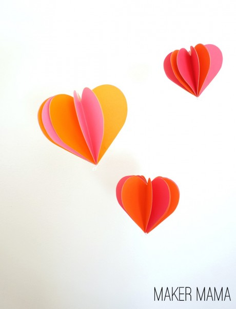 Hang them up in clusters or add a single one to a doorknob, however you use your paper heart ornaments, they're bound to make your heart smile!