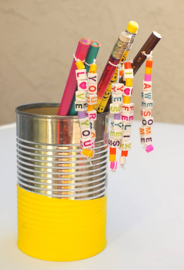 Cute and Easy Personalized Pencil Toppers