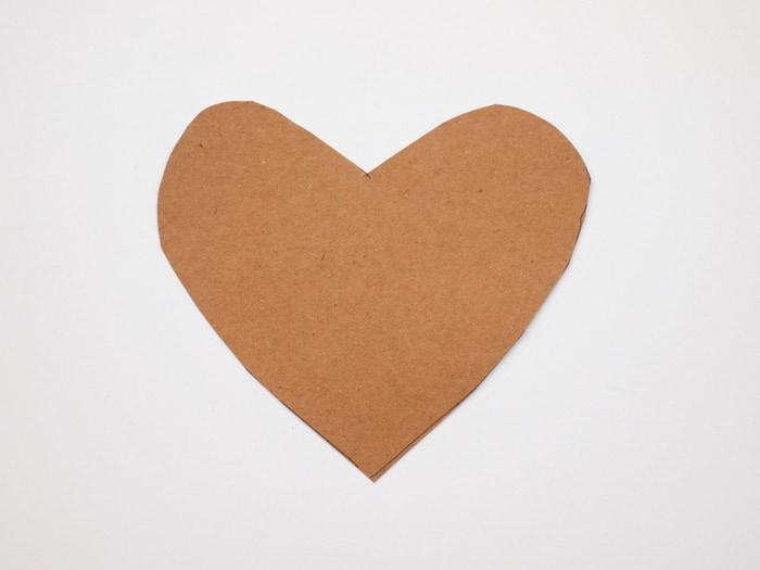 Cardboard heart template