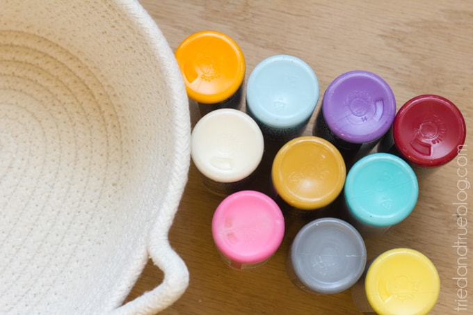 Kilim Inspired Painted Basket - Paints